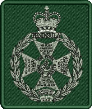 ROYAL GREEN JACKETS EMBROIDERED BADGE